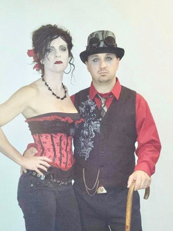 Steampunk Goth face paint &nmakeup