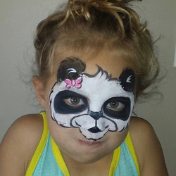 Panda bear face paint