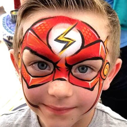 Flash Superhero Face Paint