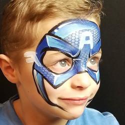 #captainamerica #superheromask #facepain