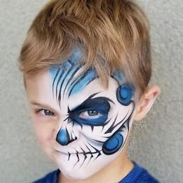 Blue Skull Face Paint