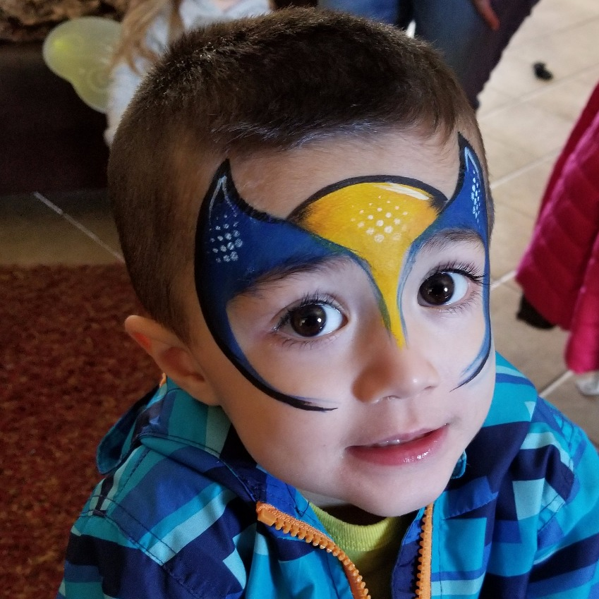 Wolverine face paint