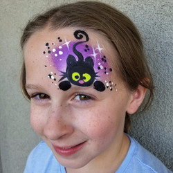 Pouncing kitty face paint