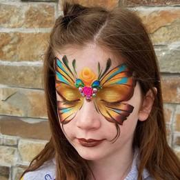 Gold Fairy Face Paint