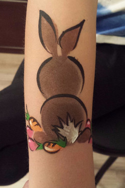 Easter Bunny arm paint