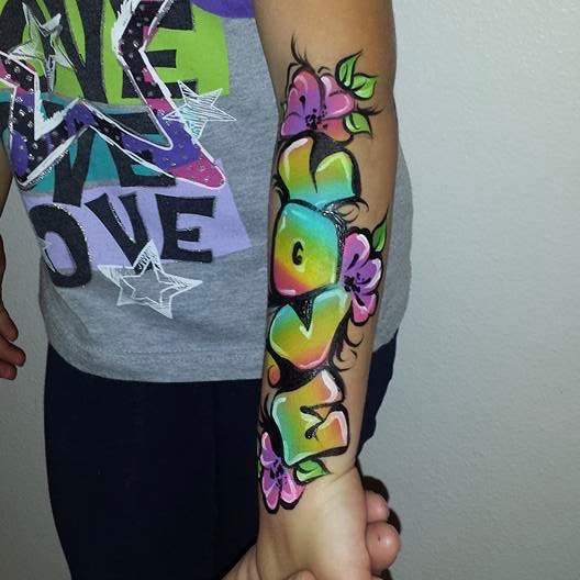 Graffiti arm paint