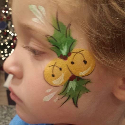 Christmas face paint