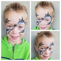 Spider web mask face paint