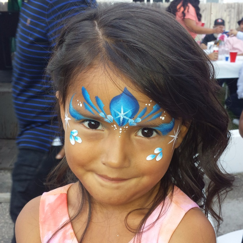 Snow Queen tiara face paint