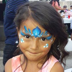 Snow Queen tiara face paint