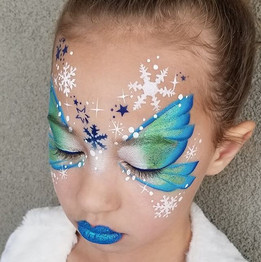 Snowflake Fairy Face Paint