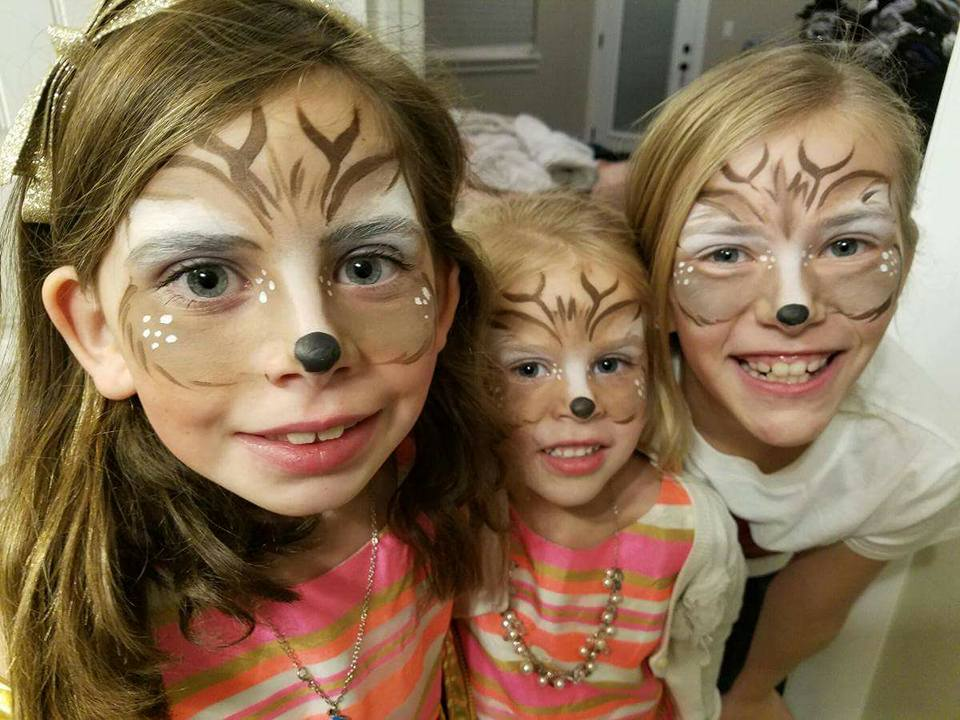 Reindeer face paint