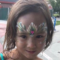 Fairy tale princess tiara face paint