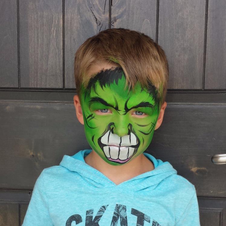 Hulk face paint