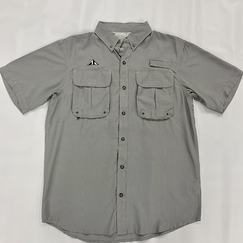 Gingham Gray Short Sleeve Shirt
