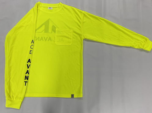 Safety Green Polyester Long Sleeve