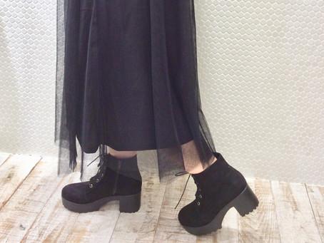 □レースアップ ボリュームソール ブーツ□