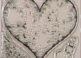 CREATIVE EXPRESSIONS - Stamp - Torn Paper Heart