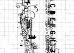 STUDIO LIGHT - Grunge Stamps - Letters