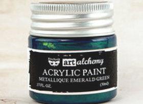 PRIMA - Metallique Paint - Emerald Green