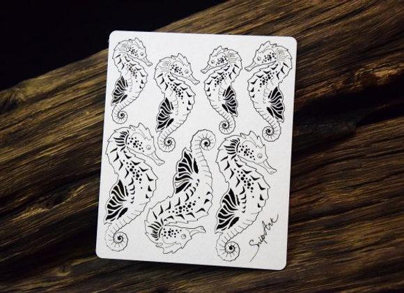 SNIP ART - Chipboard - Seahorses