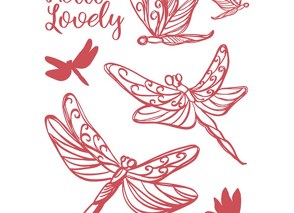 COUTURE CREATIONS - Stamp - Lovely Dragonflies