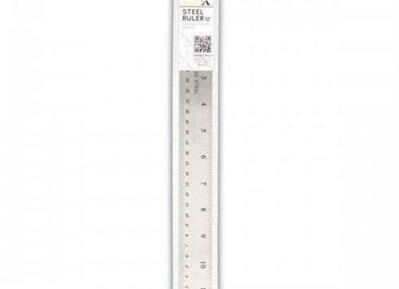 "X-CUT - 12"" Steel Ruler (soft back)"