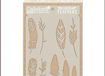 CELEBR8 - Stencil - Layered Feathers