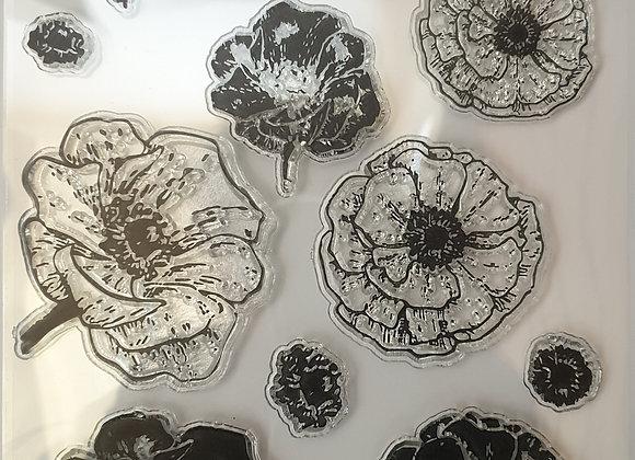 FABSCRAPS - Stamp - Poppy Fields