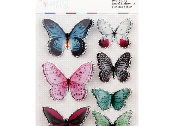 ROSIES STUDIO - 3D Butterflies - Indigo Mist