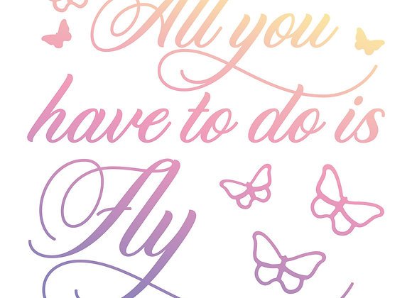 COUTURE CREATIONS - Mini Stamp - All you have to do