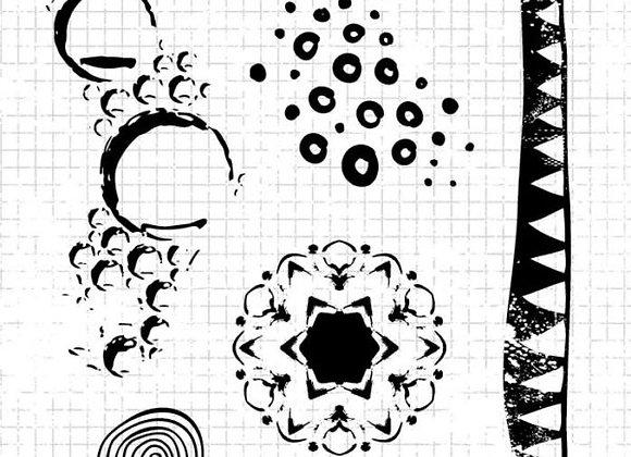STUDIO LIGHT - Grunge Stamps - Doodles