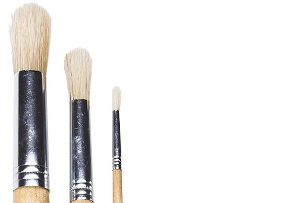 DALA - Round Brush Set of 3
