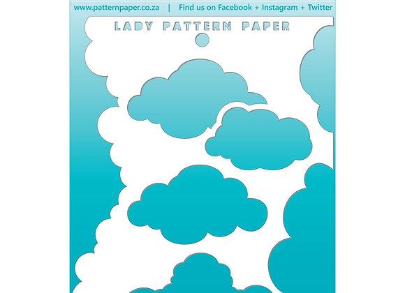 LADY PATTERN PAPER - Stencil - Clouds