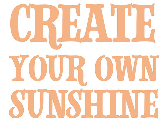 COUTURE CREATIONS - Mini Stamp - Create Your Own Sunshine