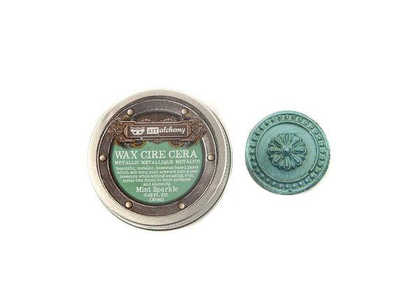 PRIMA - Finnabair Metallique Wax - Mint Sparkle