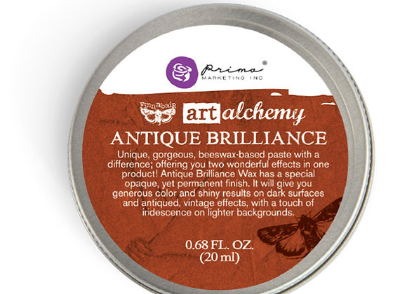 PRIMA - Antique Brilliance Wax - Red Amber