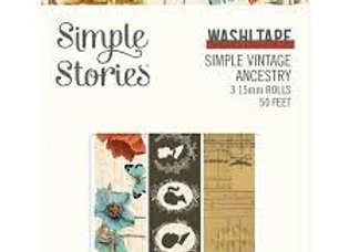 SIMPLE STORIES - Washi Tape - Ancestry