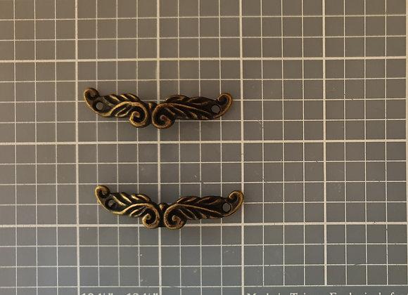 FABSCRAPS - Metal Finding - Filigree Handle