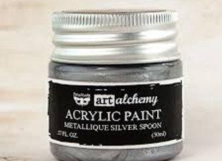 PRIMA - Metallique Paint - Silver Spoon