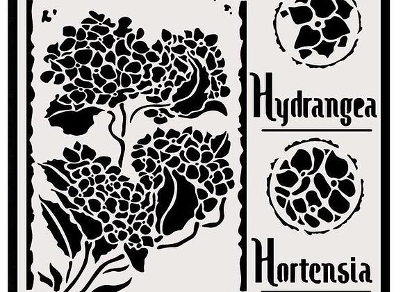 STAMPERIA - Stencil - Hortensia Hydrangea
