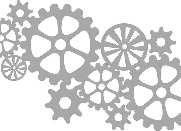KAISERCRAFT - Die-cut - Cogs Texture