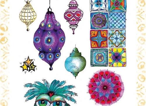 ART BY MARLENE - Stamp - Artsy Arabia Night Owl