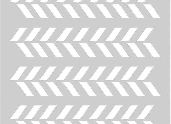 FABSCRAPS - Stencil - Tracks