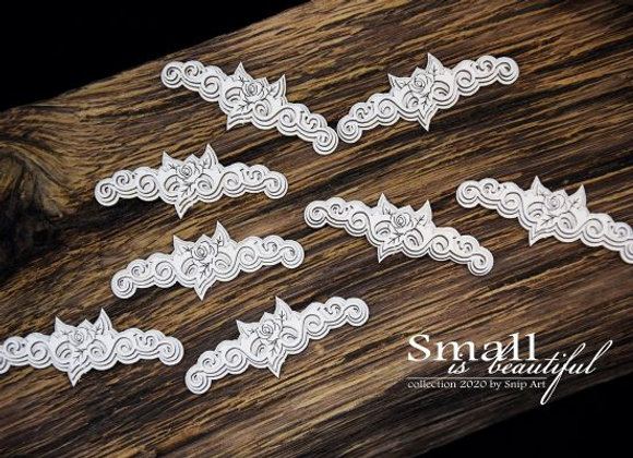 SNIP ART - Chipboard - Ornaments with Small Roses