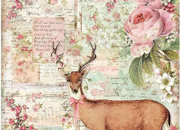 STAMPERIA - Rice Paper - Christmas Deer