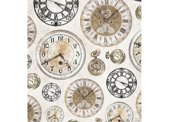 ART BY MARLENE - Rice Paper - No 6 Clocks