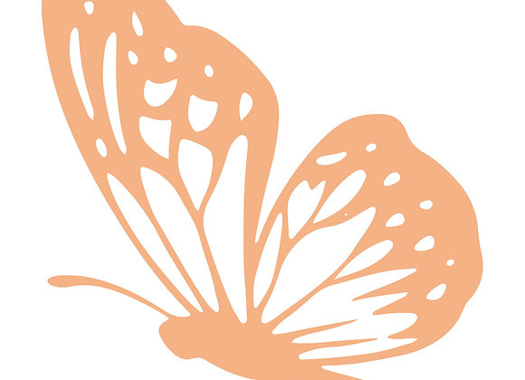 COUTURE CREATIONS - Mini Stamp - Landing Butterfly