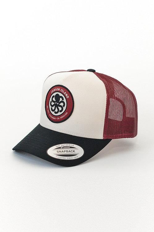 JONSENISLAND - Trucker Hat LOGO - Burgundy