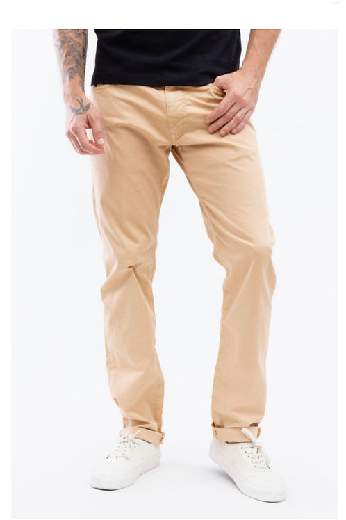 MCS - PANTALON 5 POCHES REGULAR - BEIGE